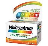 Multicentrum Plus, Complemento Alimenticio con 13 Vitaminas, 8 Minerales, Ginseng y Ginkgo Biloba,...